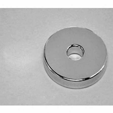 "RX864 Neodymium Ring Magnet, 1 1/2"" od x 3/8"" id x 1/4"" thick"