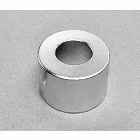 "RX8CC Neodymium Ring Magnet, 1 1/2"" od x 3/4"" id x 3/4"" thick"