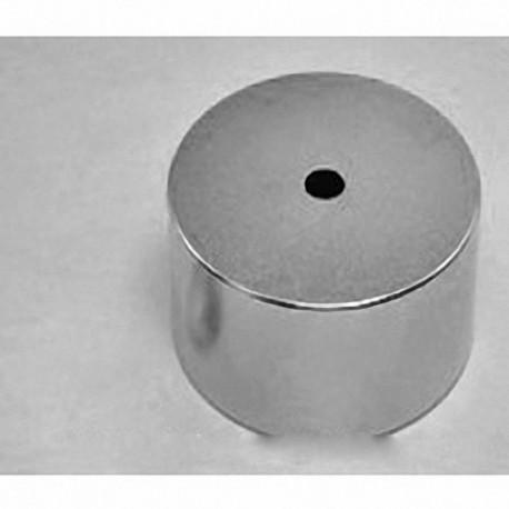 """RY04X0 Neodymium Ring Magnet, 2"""" od x 1/4"""" id x 1"""" thick"""