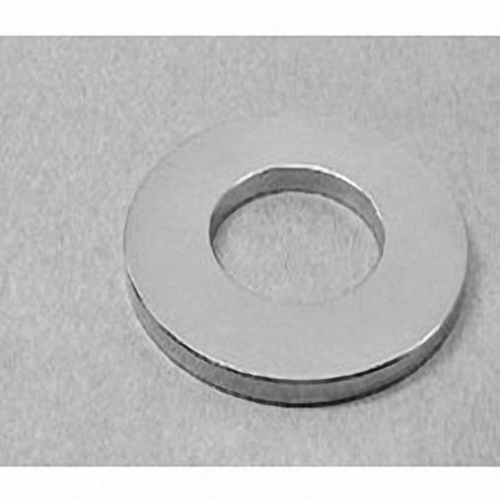 "RZ0X84 Neodymium Ring Magnet, 3"" od x 1 1/2"" id x 1/4"" thick"