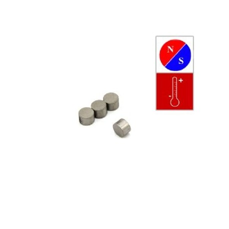 6mm x 4mm thick Diametrically Magnetised Disc Magnet