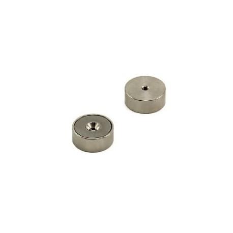 25mm x 10mm thick x M4 thread hole Samarium Cobalt Pot Magnet