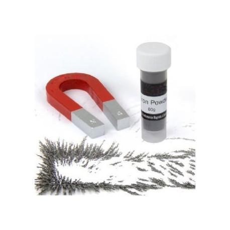 Traditional Alnico Horseshoe Magnet & Iron Powder Set