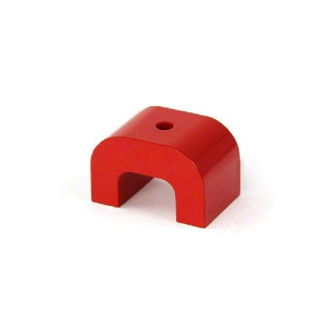Small Red Alnico Horseshoe Magnet