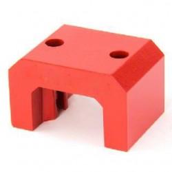 Extra Large Red Alnico Horseshoe Magnet